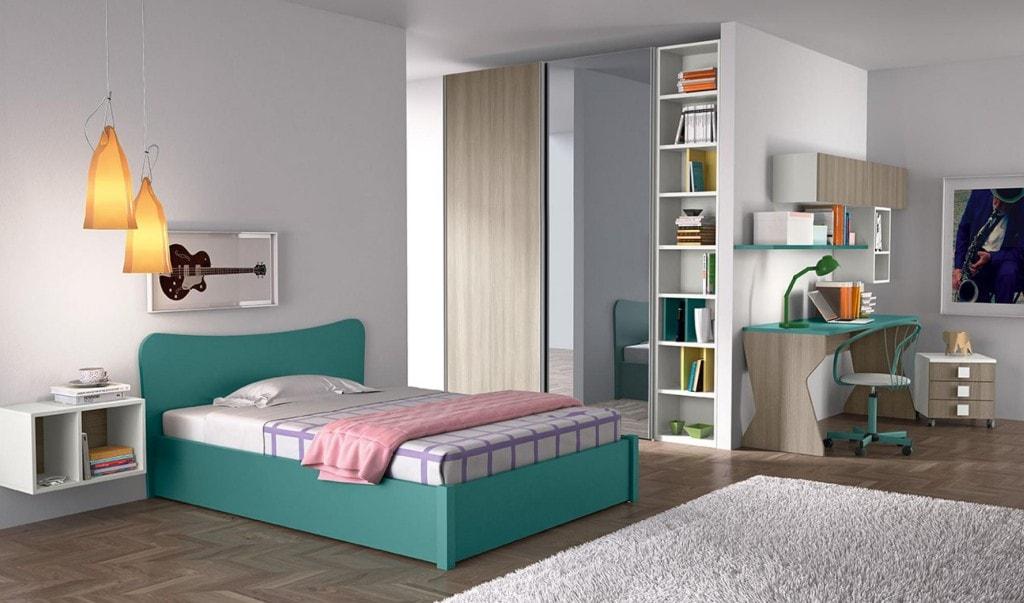 Camere da letto per single modus crescendi camerette for Arredamenti colombini