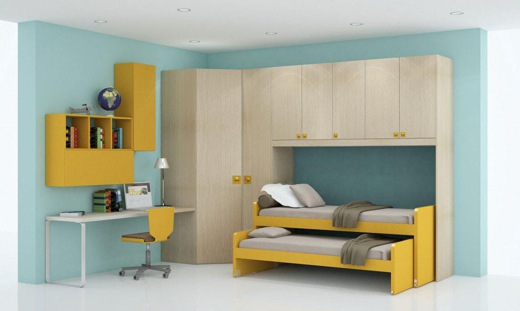 Camerette con doppio letto spazio condiviso o pareti for Camerette doppie