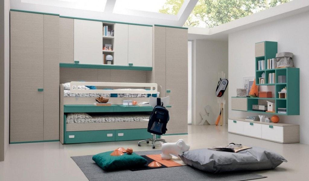 camerette mobilandia : Camerette con doppio letto. spazio condiviso o pareti divisorie?