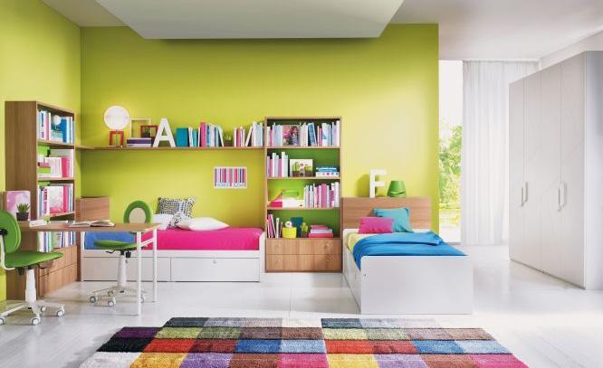 Camerette con doppio letto spazio condiviso o pareti divisorie - Immagini di camerette ...