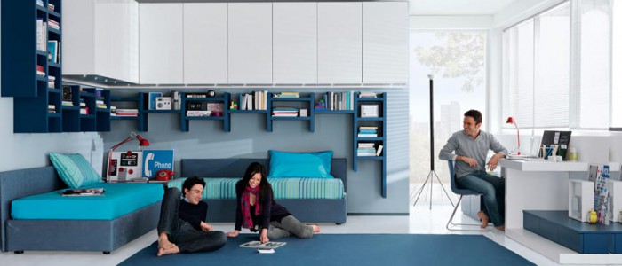 Camerette salvaspazio come arredare piccoli ambienti for Arredamento per piccoli ambienti
