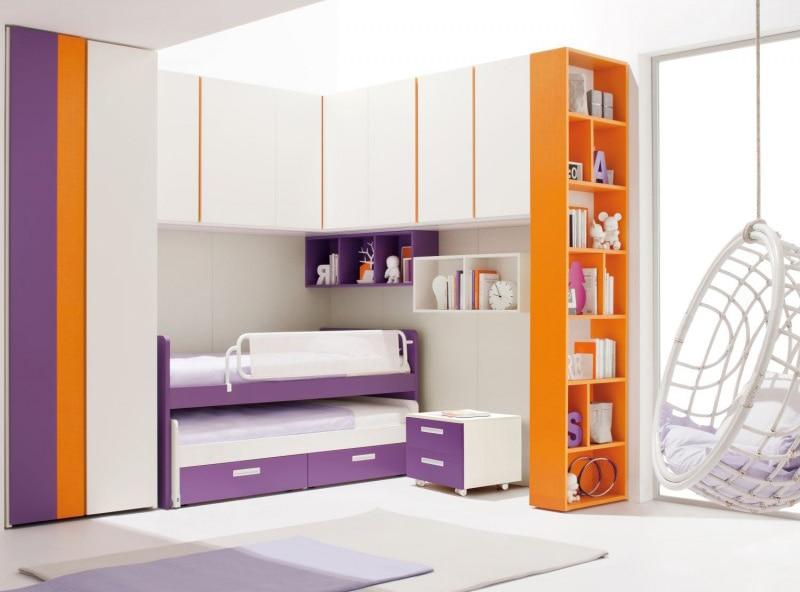 Camerette con doppio letto spazio condiviso o pareti for Cameretta ponte