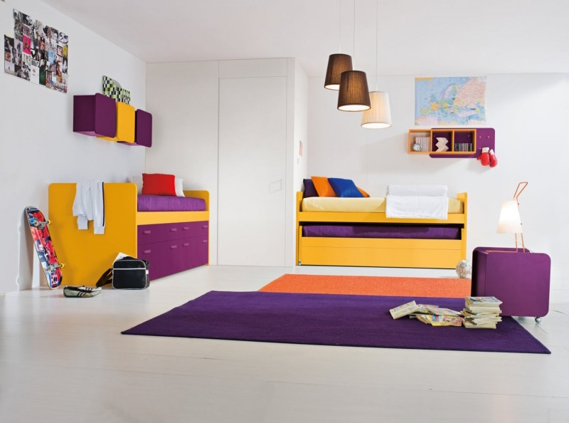 Camerette con doppio letto. Spazio condiviso o pareti divisorie?
